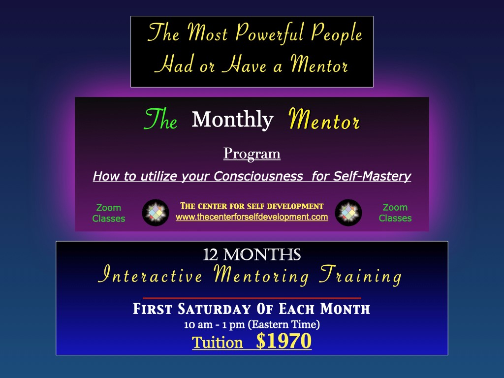 monthly mentoring
